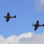 Spitfire and Hurricane flypast for Project Propeller!