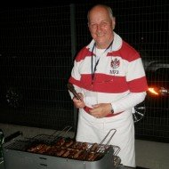Kim Hampshire - in BBQ action!