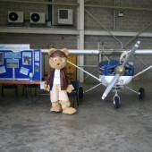 Our stand at the Open Day (with friend!)